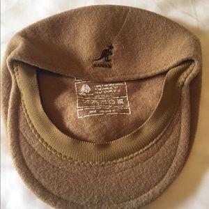 Vintage Kangol wool flat cap hat Beige EUC